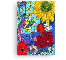 British Flowers 1 Canvas Print