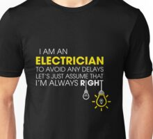 Electrician - Electrical   On Time Service Unisex T-Shirt