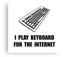 Keyboard Internet Canvas Print