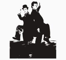 Laurel And Hardy Like To Dance by Museenglish