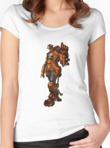 Robbie the robot boy from Submantle Women's Fitted Scoop T-Shirt