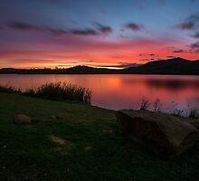 Lake Wyaralong Sunset by McguiganVisuals