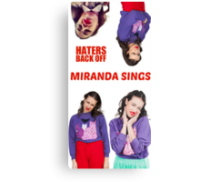 Miranda Sings x4 Canvas Print
