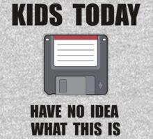 Kids Today Computer Disk Kids Tee
