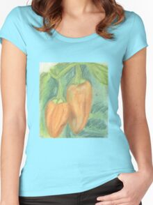 Two Orange Peppers Women's Fitted Scoop T-Shirt