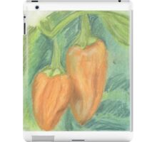Two Orange Peppers iPad Case/Skin
