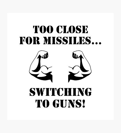 Missiles To Guns Biceps Photographic Print