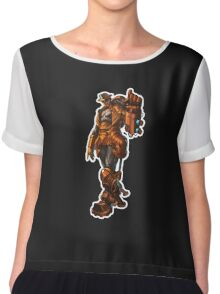 Robbie the robot boy from Submantle Chiffon Top