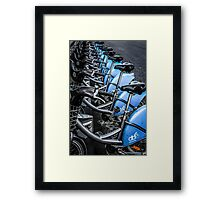 Blue Bicycles Framed Print