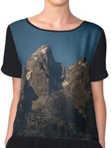 Grand Teton Mountain Range Chiffon Top