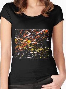 Escape - Warm (Abstract, 1 of 6) Women's Fitted Scoop T-Shirt