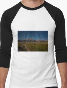 Grand Teton Mountain Range Men's Baseball ¾ T-Shirt