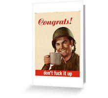 CONGRATS Greeting Card