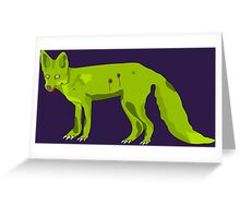 Frederick - The Zomfox (Zombie Fox) Greeting Card