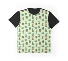 Cactus Pattern Graphic T-Shirt