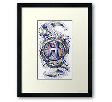 PISCES Aquatic Zodiac sign Framed Print