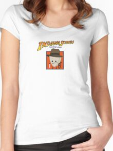 Indiana Scones & The Toaster of Doom Women's Fitted Scoop T-Shirt