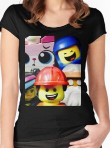 Cos we're Happy! Women's Fitted Scoop T-Shirt