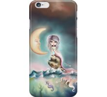 Melancholy Mermaid by the Light of the Sleeping Moon iPhone Case/Skin