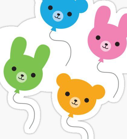 Kawaii Animal Balloons Sticker