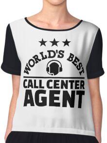 World's best call center agent Chiffon Top