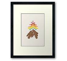 Crackling Fire Framed Print