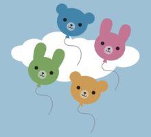 Kawaii Animal Balloons Kids Tee
