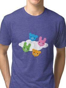 Kawaii Animal Balloons Tri-blend T-Shirt