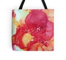 Alcohol Ink Red Flower Tote Bag