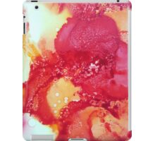 Alcohol Ink Red Flower iPad Case/Skin