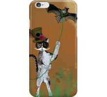 Steampunk Kitty Flying A Bat iPhone Case/Skin