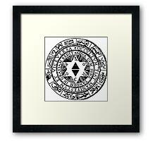 Air&Earth (AV) Astrological Framed Print