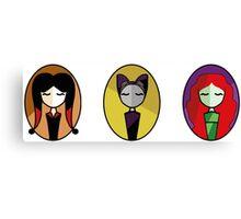 Set: Catwoman, PoisonIvy & HarleyQuinn Canvas Print