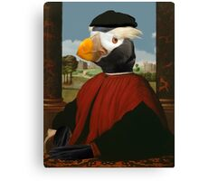 Birders Rule - Tufted Puffin in Red Canvas Print