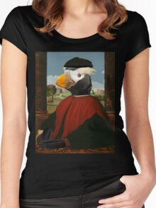 Birders Rule - Tufted Puffin in Red Women's Fitted Scoop T-Shirt