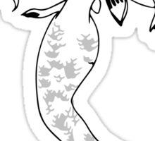 Mythical Winged Mermaid Sticker