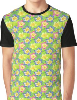 Pretty Spring Primroses Pattern Graphic T-Shirt