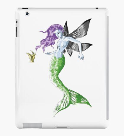 Colourful Mythical Winged Mermaid iPad Case/Skin