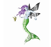 Colourful Mythical Winged Mermaid by mazipan