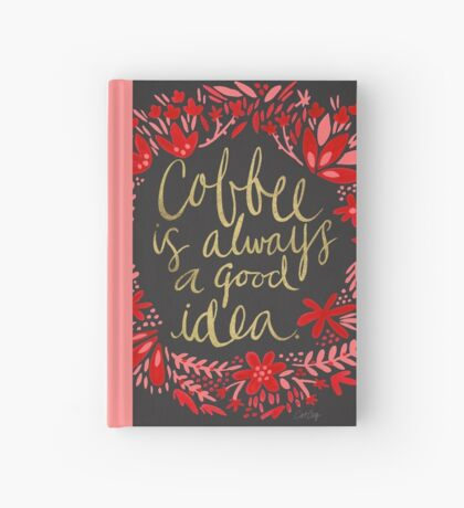 Coffee on Charcoal Hardcover Journal