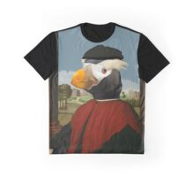 Renaissance Puffin  - Fratercula cirrhata in red Graphic T-Shirt
