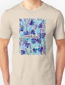 Tropical Wanderlust – Blue Unisex T-Shirt
