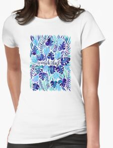 Tropical Wanderlust – Blue Womens Fitted T-Shirt