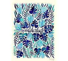 Tropical Wanderlust – Blue Photographic Print