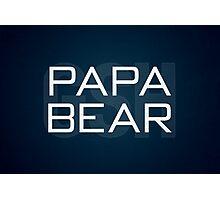 Papa Bear Photographic Print
