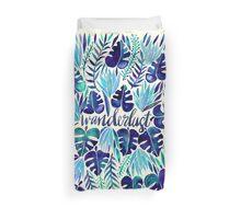 Tropical Wanderlust – Blue Duvet Cover