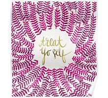 Treat Yo Self – Gold & Pink Poster