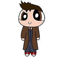 10th Doctor Powerpuff Style! Photographic Print