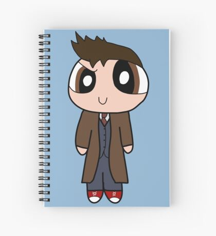 10th Doctor Powerpuff Style! Spiral Notebook