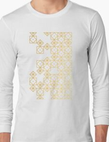 Geometric Gold Long Sleeve T-Shirt